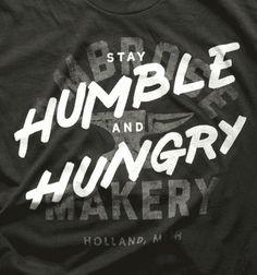 stay humble & hungry logo tee