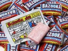 """1953 - Topps changed packaging to include small comic strips with the gum, featuring the character """"Bazooka Joe"""". ** I loved the Big Bazooka. 90s Candy, Retro Candy, Vintage Candy, Vintage Barbie, Vintage Sweets, Retro Sweets, 90s Childhood, My Childhood Memories, Sweet Memories"""
