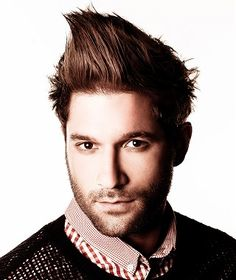 medium brown straight spikey sculptured Mens hairstyles for men