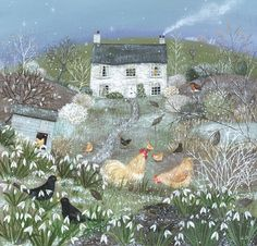 'Chickens in a Winter Garden' by Lucy Grossmith