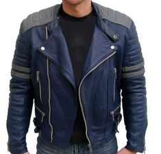 Men Blue Leather Color Jacket, Men's Bomber Jacket, Men's Real Leather Jacket sold by Rangoli Collection. Shop more products from Rangoli Collection on Storenvy, the home of independent small businesses all over the world. Biker Leather, Leather Men, Leather Jackets, Real Leather, Biker Jackets, Leather Collar, Motorcycle Leather, Men's Jackets, Cowhide Leather