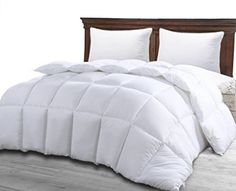 Queen Comforter Duvet Insert White - Hypoallergenic, Plush Siliconized Fiberfill, Box Stitched, Down Alternative Comforter, Protects Against Dust Mites and Allergens - by Utopia Bedroom Home Decor * Special offer just for you. : Bedroom Home Decor