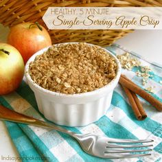 Lindsay Ann Bakes: Healthy, 5 Minute, Single Serving Apple Crisp (with sugar-free, gluten-free and dairy-free options!)