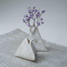 One Stoneware Bud Vase Weed Pot Sprig Pot by JanFairhurstPottery, $21.50