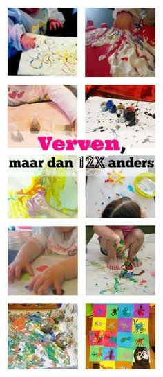 Paints and crafts with babies, toddlers and pre-schoolers - Mom Love Baby Crafts, Crafts For Kids, Baby Games, Kids Corner, Reggio Emilia Approach, Cool Baby Stuff, Fun Learning, Painting Techniques, Kids Playing