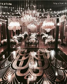 Art deco, or Great Gatsby wedding event theme is perhaps one of my preferred since it's chic, absolutely beautiful and swank! Great Gatsby Wedding, Gatsby Theme, Star Wedding, Dream Wedding, Gatsby Style, Luxury Wedding Venues, Wedding Vendors, Wedding Events, Wedding Reception