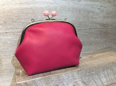 Pink Leather Purse | Sew Easy™ | Pins&Needles Haberdashery Emporium
