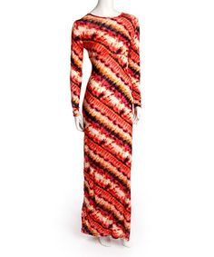 Another great find on #zulily! Red Diagonal Stripe Maxi Dress by Red Currant #zulilyfinds