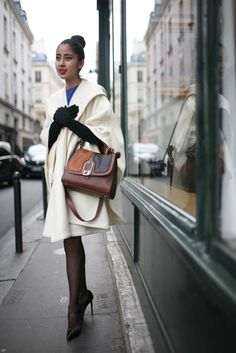 Out and about in Paris during spring couture.