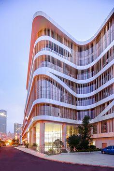 atelier alter guangxi senior center bamboo double facade china