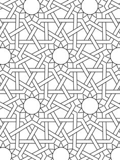 Traditional Islamic Mosaic coloring page from Mosaic category ...