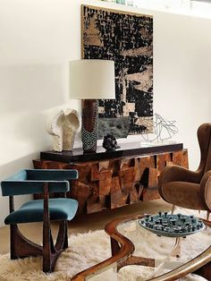 Highly textured furniture // Living Rooms
