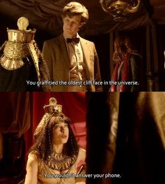 I love watching River and the Doctor interact. I've been a Doctor Who fan for over a quarter of a century and in all of that time, I have to say the Doctor - River story is my absolute favorite. Dr Who, 11th Doctor, Fandoms Unite, Geronimo, Don't Blink, Torchwood, Matt Smith, Time Lords, David Tennant