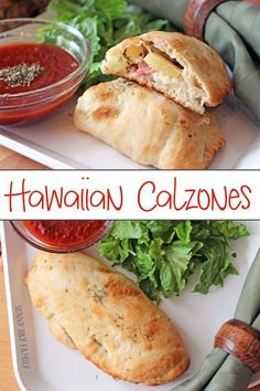 This simple Hawaiian calzone recipe is so easy and your whole family will love it! Packed with protein and with just a few ingredients, its a meal everyone can agree on. (Few Ingredients Recipes) Lunch Recipes, Easy Dinner Recipes, Easy Meals, Cooking Recipes, Pizza Recipes, Freezer Meals, Dinner Ideas, Ww Recipes, Empanadas