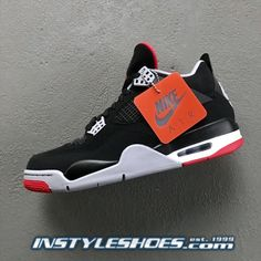 407d66955d7e5c (eBay Sponsored) SHIPS NOW Nike Air Jordan 4 Black Cement Bred 2019 Retro  308497