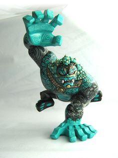 """Foo Dog"" | custom Coarse Toys's PAW figure | Artist: Frank Mysterio | Image 1 of 2"