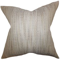 "Simple and sleek, this throw pillow creates a polish decor look. This accent pillow comes with a woven design. This square pillow pairs well with contemporary and traditional furniture pieces. Complete your living space's style by tossing a few pieces of this 18"" pillow."