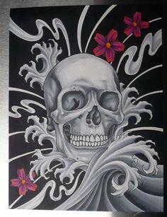 All About Art Tattoo Studio Rangiora. Off The Map Tattoo, Crane, Skull Wallpaper, Skull Island, Skulls And Roses, Skull Tattoos, Skull Art, Dark Art, Unique Art