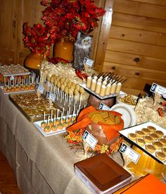 A Party Style: fall festival dessert Buffet  2010  Have a Pumpin all foods table that people bring or a pie table