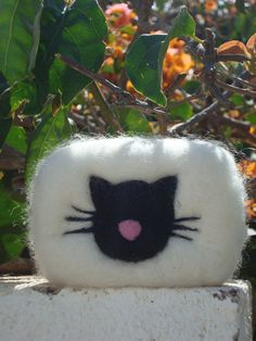 Felted Soap – Felted soap with Cat - with different frangraces – a unique product by pinnysoap on DaWanda