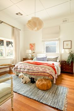 Bedroom Eclectic With Pendant Light Dark Wood Nighstand - http://redimages.com.au/2014/07/15/designsponge-project/kim-pearson-14/