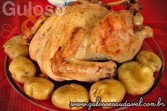 O Peru ao Molho de Laranja com Batatas ao Murro é uma receita muito simples, leve e saborosa, nem necessita descascar as batatas, maravilha não?!  #Receita aqui: http://www.gulosoesaudavel.com.br/2012/12/06/peru-molho-laranja-batatas-murro/
