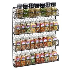 Amazon.com: 4 Tier Country Metal Chicken Wire Spice Rack From 1790, Cabinet