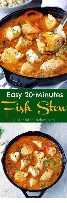 Easy Fish Stew cooked in a delicious, rich and fragrant broth made wi. - Easy Fish Stew cooked in a delicious, rich and fragrant broth made with Hood Sour Cream! Pescatarian Recipes, Vegetarian Recipes, Healthy Recipes, Easy Fish Recipes, Recipes With Fish Broth, Fish Recipes Lunch, Recipes Using Fish Stock, Healthy Salads, Fish Broth Recipe