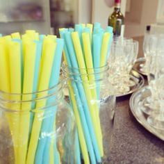 for summer wedding party! Yellow Wedding, Summer Wedding, Wedding Events, Weddings, Candles, Party, Blue, Ideas, Decor
