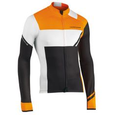 Northwave Men's Extreme Graphic Long Sleeve Jersey - Black/Fluorescent Orange