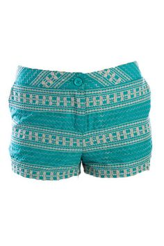 teal shorts <3