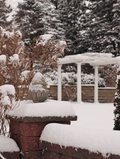 Beautiful snowfall covers the Grand Promenade at The Gardens of Castle Rock ~ Minnesota Wedding Venue #TheGardensofCR #MNWedding ~ Love Grows at The Gardens of Castle Rock ~ The Minnesota Wedding Venue & Event Center #LoveGrowsatTheGardens #MinnesotaWeddingVenue #MinnesotaWedding #MNVenue #GardenWedding #OutdoorWedding