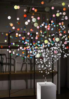Sparkling Bubbles Installation by Emmanuelle Moureaux