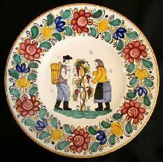 Modranska keramika - Slovak Modra Ceramic plate