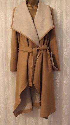 ASOS Drape Flap Collar Waterfall Long Belt Camel Wool Trench Mac Coat 10 - 22 50 | Clothes, Shoes & Accessories, Women's Clothing, Coats & Jackets | eBay!