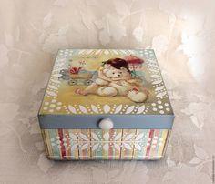 Купить шкатулка для мелочей Любимый мишка в интернет магазине на Ярмарке Мастеров