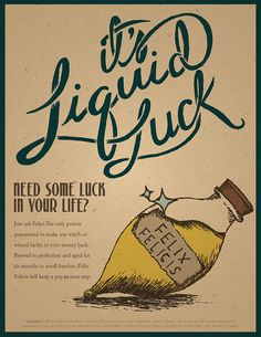 30 OFF Liquid Luck Advertisement Harry Potter Print by 716designs