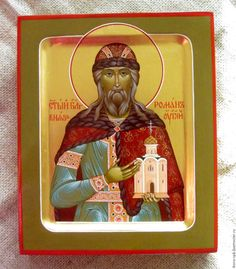 Купить Святой Благоверный князь Роман Угличский - икона, икона в подарок, Икона ручной работы