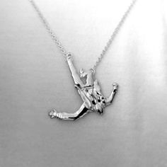 #MadMen inspired falling man #necklace.  Can we say #LOVE?