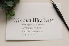 EMILY STYLE Handwritten calligraphy for envelopes, weddings, place cards, etc.