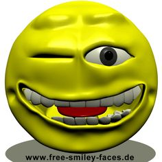 Big Smileys Große Smilies Wink Smileys Winking animated animierte 3D