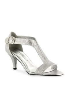Easy Street Silver Glitter Glitz Evening Sandals