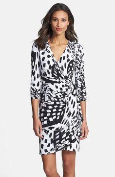 Ivy & Blu Print Jersey Faux Wrap Dress | Nordstrom
