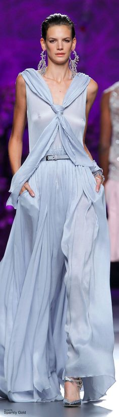 Francis Montesinos Couture 2015, Couture Fashion, Blue Fashion, High Fashion, Baby Blue Dresses, Long Dresses, Blue Crush, Couture Collection, Beautiful Gowns