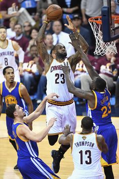 LeBron James Photos - LeBron James #23 of the Cleveland Cavaliers shoots the ball during the first half against the Golden State Warriors in Game 3 of the 2016 NBA Finals at Quicken Loans Arena on June 8, 2016. Cavs win 90 to 120!!!