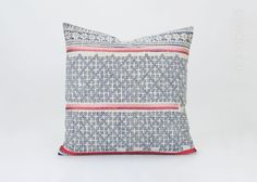 Lovingly crafted from a vintage indigo batik cotton dress fabric from the Hmong hill tribe of Northern Thailand, this beautiful throw pillow makes a gorgeous addition to any room.   [ Details ]  A beautiful criss cross indigo batik design upcycled from a vintage hmong dress makes up the main front section of this pillow cover, finished with an organic cotton reverse. ○ Front is a crafted from vintage Hmong hill tribe dress fabric.  ○ Gorgeous rustic design.  ○ Organic cotton reverse.  ○…
