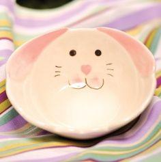 Ceramic Bunny Face Bowl