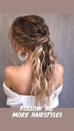 Homecoming Hairstyles, Wedding Hairstyles For Long Hair, Wedding Hair And Makeup, Up Hairstyles, Ponytail Wedding Hair, Gorgeous Hairstyles, Wavy Wedding Hair, Bridesmaid Hairstyles, Ponytail For Prom