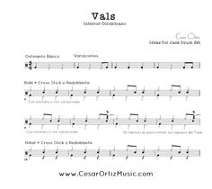 Vals Andino Colombiano Grooves para Batería | Patterns for Drumset
