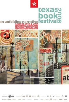 Texas Book Festival 2006 poster by Sodalitas (collaborative art group composed of three artists that combine their styles to create a single composition)